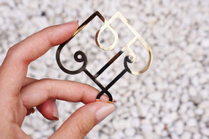 Brass Motif Paper Clips-Galen Leather