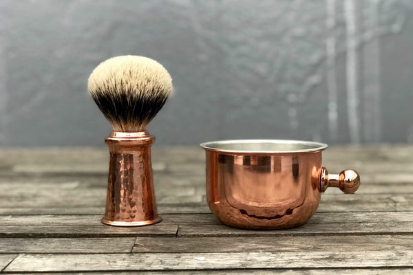 Copper Shaving Brush - Bowl-Galen Leather