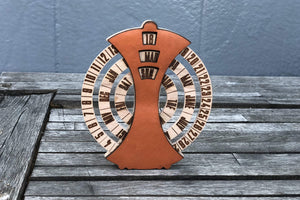 Orange Desktop Perpetual Calendar Leather