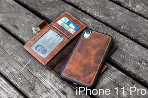 brown leather iphone 11 Pro case