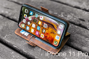 distressed brown leather iphone 11 Pro cover