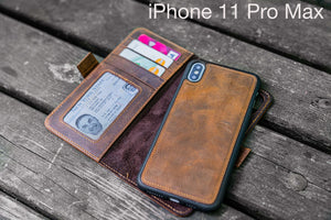 leather detachable iPhone 11 Pro Max wallet case