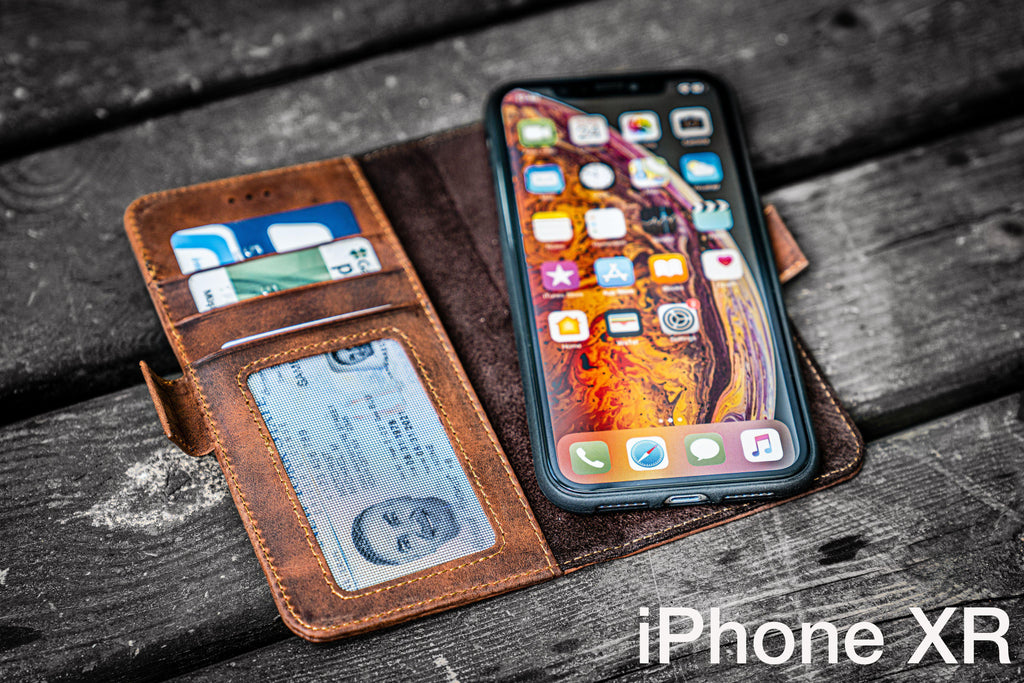 Leather Wallet Case for iPhone X