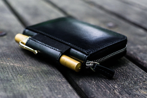 EDC Wallet - Black-Galen Leather