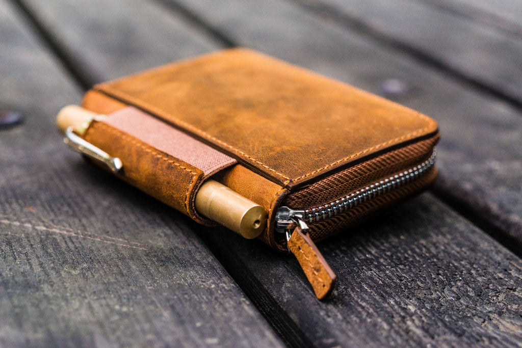EDC Wallet - Crazy Horse Brown-Galen Leather