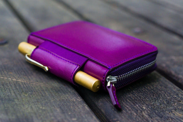 EDC Wallet - Purple-Galen Leather