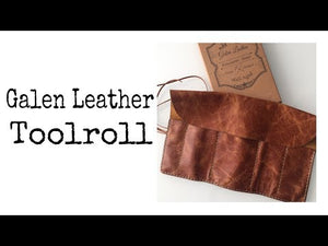 Leather Pen Roll - Rustic Brown