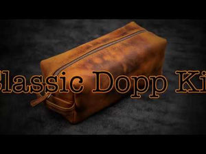 Leather Classic Dopp Kit & Travel Toiletry Bag - Crazy Horse Tan