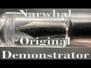 Narwhal Fountain Pen - Clear Demonstrator + Leather Pen Sleeve