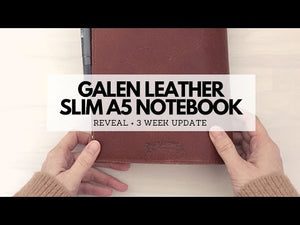Leather Slim A5 Notebook / Planner Cover - Crazy Horse Forest Green