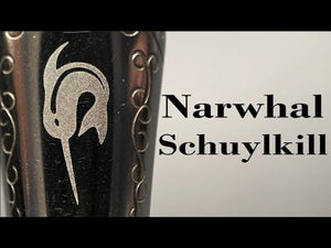 Narwhal Fountain Pen - Schuylkill Rockfish Red + Leather Pen Sleeve