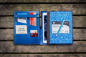 iPad Air/Pro & Extra Large Moleskine Cover - Blue-Galen Leather