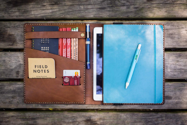 iPad Air/Pro & Extra Large Moleskine Cover - Brown-Galen Leather