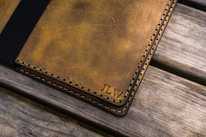iPad Air/Pro & Extra Large Moleskine Cover - Crazy Horse Brown-Galen Leather