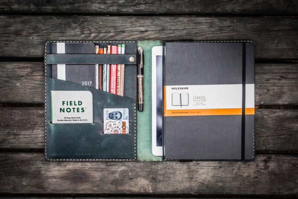 iPad Air/Pro & Extra Large Moleskine Cover - Crazy Horse Forest Green
