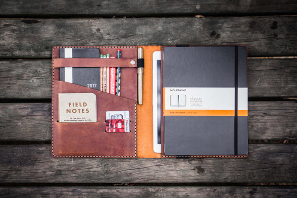 iPad Air/Pro & Extra Large Moleskine Cover - Crazy Horse Tan-Galen Leather