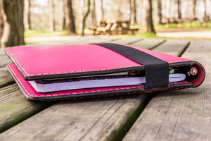 iPad Air/Pro & Extra Large Moleskine Cover - Pink-Galen Leather