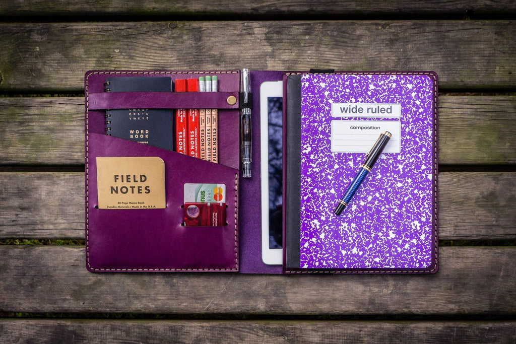 iPad Air/Pro & Extra Large Moleskine Cover - Purple-Galen Leather