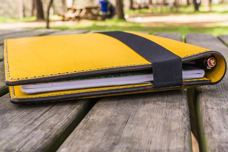 iPad Air/Pro & Extra Large Moleskine Cover - Yellow-Galen Leather
