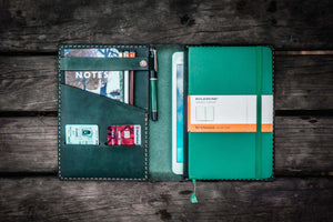 iPad Mini & Large Moleskine Cover - Crazy Horse Forest Green