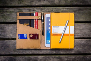 iPad Mini & Large Moleskine Cover - Natural-Galen Leather