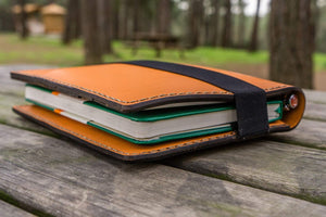 iPad Mini & Large Moleskine Cover - Orange-Galen Leather