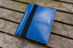 iPad Pro 10.5 and B5 size Notebook Cover - Blue-Galen Leather
