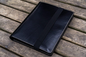 iPad Pro 12.9 & Letter/A4 Size Leather Padfolio - Black-Galen Leather