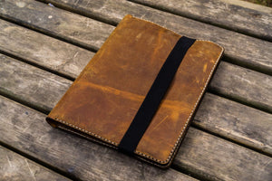 iPad Pro 12.9 & Letter/A4 Size Leather Padfolio - Crazy Horse Brown-Galen Leather