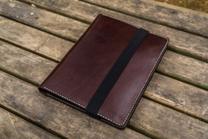 iPad Pro 12.9 & Letter/A4 Size Leather Padfolio - Dark Brown-Galen Leather