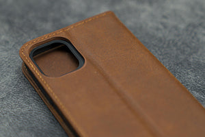 iPhone 11 Leather Wallet Case - No.01-Galen Leather