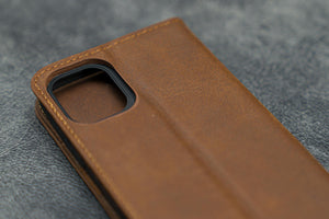 brown leather iPhone 11 Pro cover