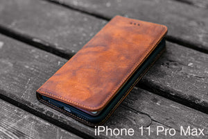 leather wallet and iphone 11 pro max case