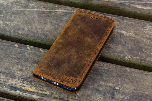 iPhone 5/5s/SE Leather Wallet Case - No.01-Galen Leather