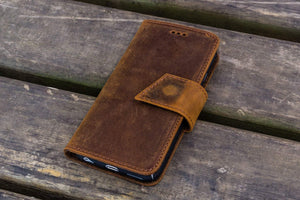 iPhone 5/5s/SE Leather Wallet Case - No.02-Galen Leather