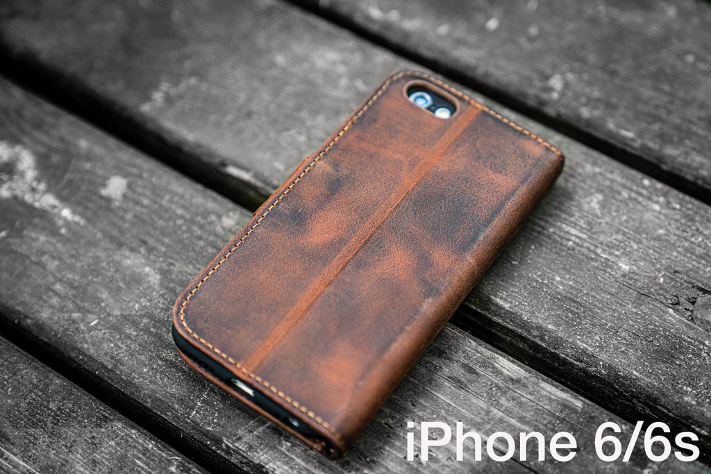 new style a503f a2efc iPhone 6 / 6s Leather Wallet Case - No.02 - Galen Leather