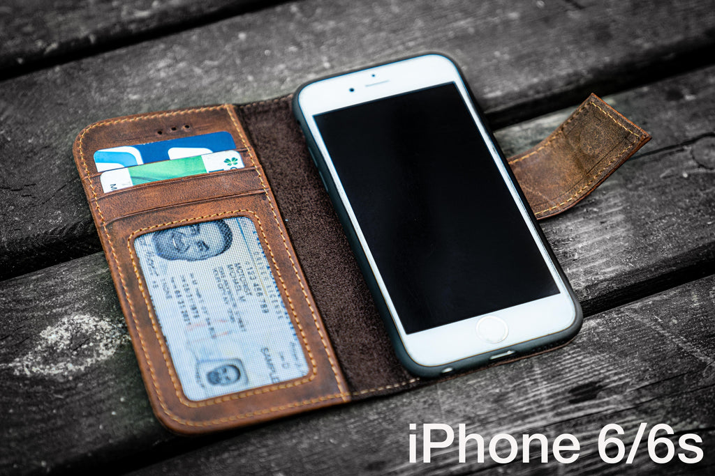 iPhone 6/6s Leather Wallet Case - No.02-Galen Leather