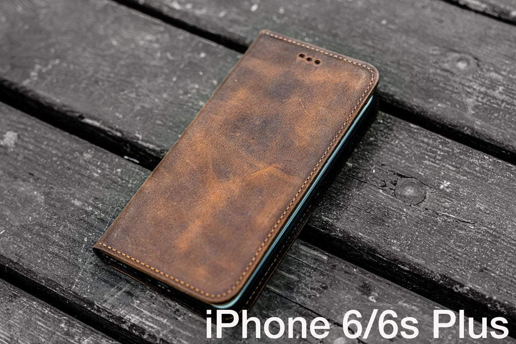 buy online 3abb3 14069 Iphone 6 / 6s Plus Leather Wallet Case - No.01 - Galen Leather