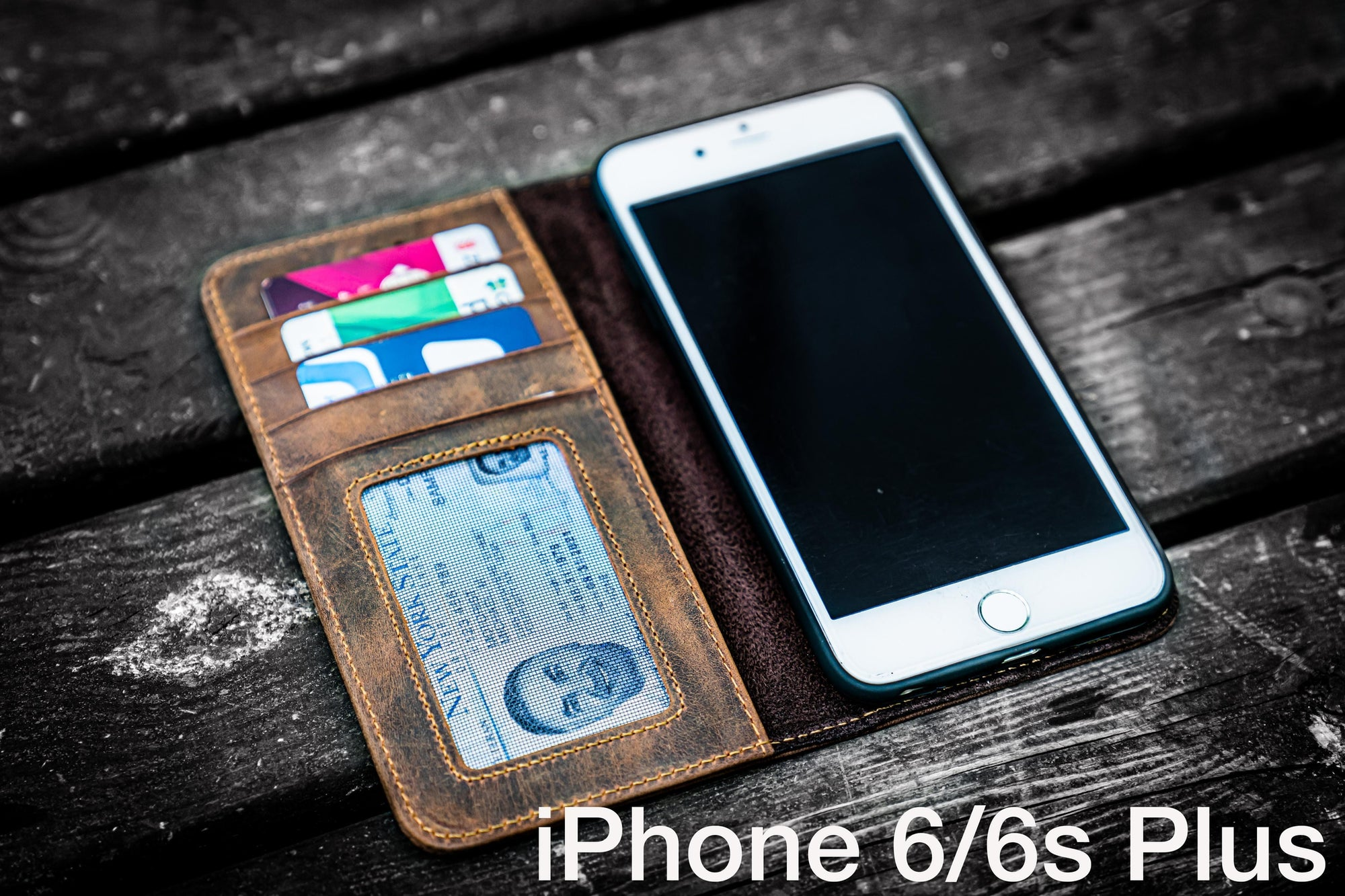 iPhone 6/6s Plus Leather Wallet Case - No.01-Galen Leather