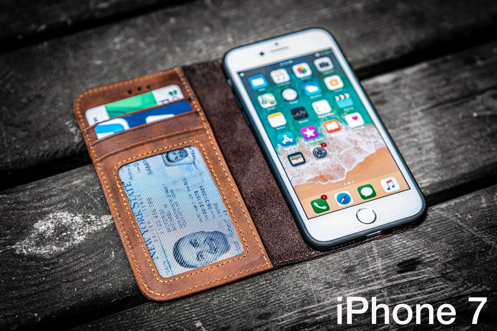 iPhone 7 Leather Wallet Case - No.01-Galen Leather