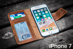 iPhone 7 Leather Wallet Case - No.02-Galen Leather