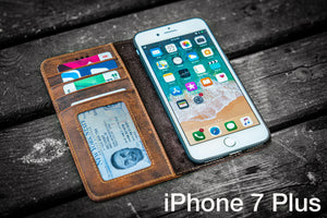 iPhone 7 Plus Leather Wallet Case - No.01-Galen Leather