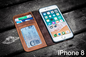 iPhone 8 Leather Wallet Case - No.01 - Galen Leather-Galen Leather