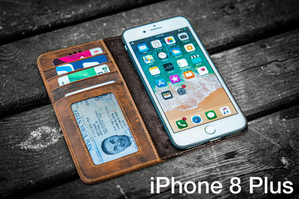 iPhone 8 Plus Leather Wallet Case - No.01-Galen Leather
