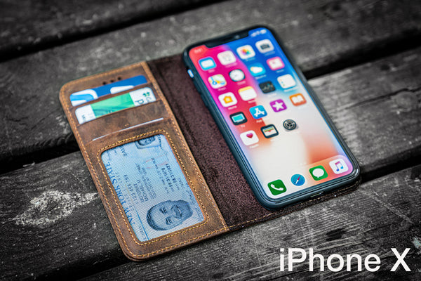 iPhone X Leather Wallet Case - No.01-Galen Leather
