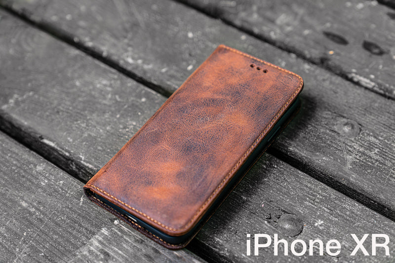 iPhone XR Leather Wallet Case - No.01-Galen Leather