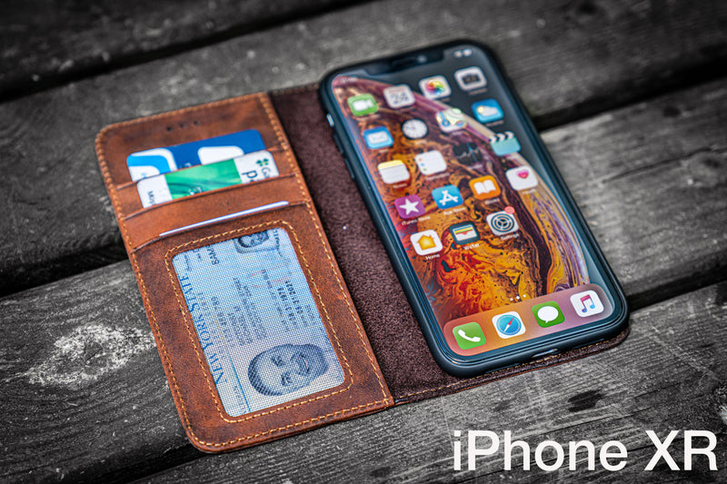 iPhone XR Leather Wallet Case - No.01