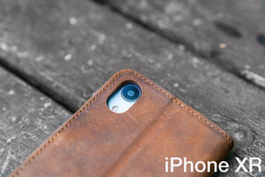 iPhone XR Leather Wallet Case - No.02-Galen Leather