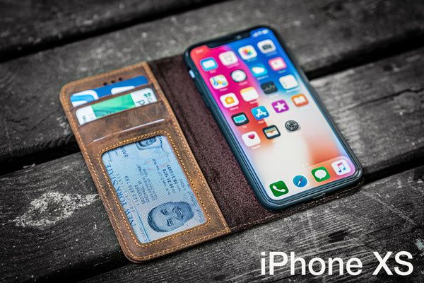 iPhone XS Leather Wallet Case - No.01-Galen Leather
