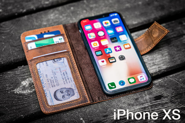 iPhone XS Leather Wallet Case - No.02-Galen Leather